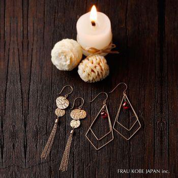 1000×1000 Flare tassel& candle ピアスイメージ正方形.jpg