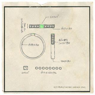 エメラルドの指輪リフォーム神戸フラウ(デザイン画).jpg