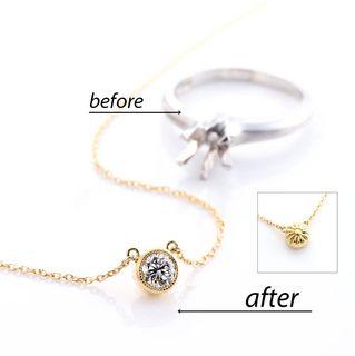 ダイヤの指輪をネックレスにリフォーム.jpg