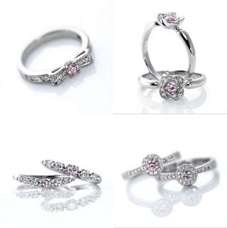 ピンクダイヤの婚約指輪 エンゲージリング.jpg