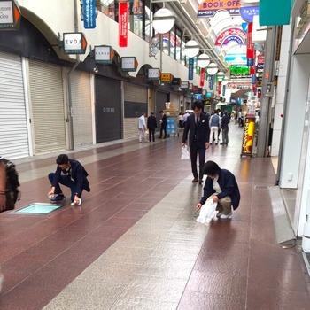 商店街清掃