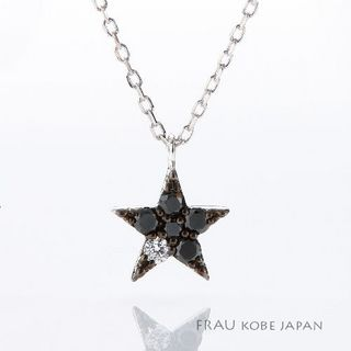 星のネックレスブラックダイア.jpg